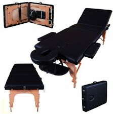Massage Imperial Deluxe Lightweight Black 3-Section Portable Massage Table Bed