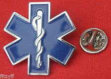 Star of Life Lapel Pin Badge Medical Symbol Brooch Caduceus Ambulance Paramedic