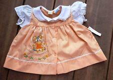 Vintage Cradle Togs Baby Embroidered Dress 0-6 months Bunny Rabbit Easter