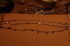 Lot of 3 Avon Silver tone necklaces
