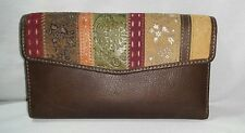 Fossil Women's Multicolor Tri-fold Leather Wallet