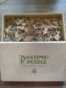 PASTIME PUZZLE PARKER BROS - CATHEDRAL TOWER - 204 WOOD PIECES - 1930 RARE