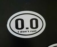 Funny Euro Style Cross Country X-C 0.0 Sticker I Don't Run