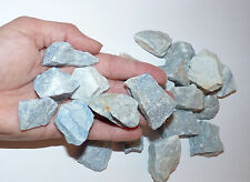 Beautiful Rough Sky Blue Quartz Stone. Raw Healing Crystal.