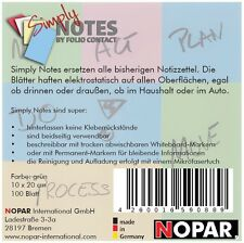 SIMPLY NOTES by Folio Contact, Haftzettel, Notizen, 10 x 20 cm, grün, 100 Blatt