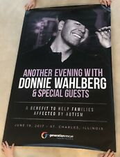 "Nkotb 2017 Huge Go Home With Donnie Wahlberg 59"" x 39"" Event Poster"