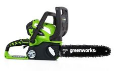"""12"""" Cordless Chainsaw Includes 2Ah Battery and Charger GreenWorks 20262 40V"""