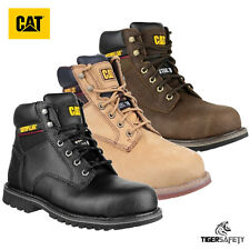 "Caterpillar CAT Electric 6"" SB SRA Mens Leather Steel Toe Cap Safety Boots PPE"