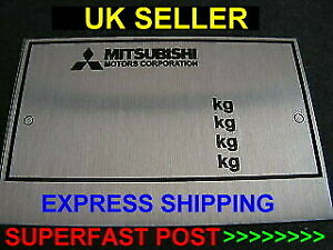 STAMPED MITSUBISHI Replacement Vin Plate CAR ID Tag Data Plate +YOUR OWN TEXT #1