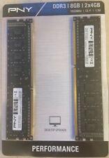 PNY Desktop RAM DDR3 2x 4GB 1600MHz CL11 1.5V MD8GK2D31600NHS-Z