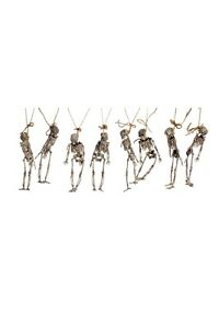 Halloween Deko Girlande 8 Skelette 183 cm Länge Party Dekoration Grusel Gerippe