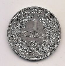 1914-J  Germany Silver One Mark-- Fabulous Coin !!