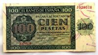 Spain- Guerra Civil. Billete. 100 Pesetas 1936. Burgos.  EBC+/XF+.
