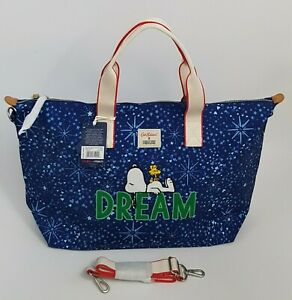 Cath Kidston x Snoopy Dreams Midnight Stars Overnight Bag True Navy Colour