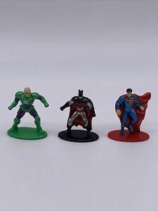 Jada Nano Metalfigs Lot of 3 DC Comics Figurines Batman Superman Lex Luthor