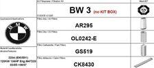 BW3 KIT FILTRI 4 PEZZI BMW 320D SERIE E90 E91  KW 120 CV 163 M47D20
