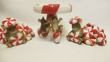 Charming Tails Mice Candy Cane Candle Holders - Fitz & Floyd Christmas