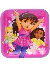 """Dora and Friends Party Supplies 9"""" Paper Lunch Plates-8ct."""