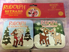 Rudolph the Red Nosed Reindeer 50 Years Still Glowing Soft Book Set Bath Baby