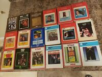 Lot Of 18 various 8 Track Tapes elvis Charley pride Sonny & Cher Chicago Hollies