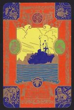 1 Single VINTAGE Swap/Playing Card ELLERMAN LINES GOLD ANIMALS FISH Shipping