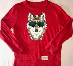 "GAP - Boys' ""Wolf in Sunglasses"" Red Tee Shirt - Sz XL"