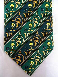 Krawatte von LOONEY TUNES, 100% Seide, Luxus, Schlips, Tweety