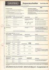 Grundig riparazione aiutante-yacht-Boy 209-istruzioni grafico-b2965