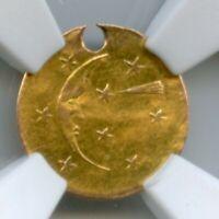 R7 1881 Moon & Shooting Star California Gold / NGC AU Gold Rush