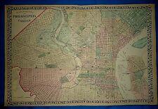 Vintage 1876 Atlas Map PHILADELPHIA, PENNSYLVANIA Old Antique Original Free S&H
