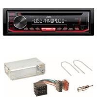 JVC KD-T402 USB CD Autoradio WMA Einbauset für Opel Astra F G Corsa B Zafira A