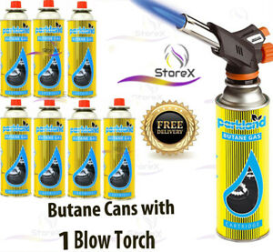 Butane Gas With Blow Torch Flamethrower Burner Welding Auto Ignition Camping Set