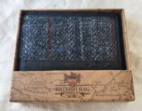 The British Bag Company Harris Tweed Leather Billfold Wallet - New