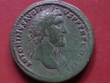 ANTONINUS PIUS. A.D.138-161, Sestertius. Rev-Apollo facing, holding Lyre.. VF