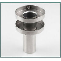 """Stainless Steel Double Section Exhaust Muffler Silencer 4.5/"""" Outer Diameter Core"""