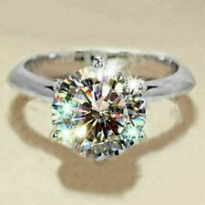 White Gold Fn White Round Cut 2.00Ct Moissanite Solitaire Engagement Ring 14K