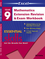 EXCEL YEAR 9 MATHEMATICS EXTENSION REVISION & EXAM WORKBOOK  FREE SHIPPING