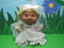 "Monkey Face Bride - 4"" Unmarked Troll - New - Very Rare - Last Ones In Yellow"
