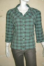 AFFINITES ARMAND THIERY Taille 5 - 46 Superbe chemise manches 3/4 marron bleu