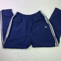 VTG 90s Adidas Windbreaker Track Jogger Pants 3 Stripes Blue Size XL