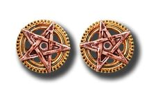 Penta Meridia Earrings for Balance & Development Steampunk Gothic Decor Jewelry