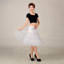 Retro Short Petticoat Crinoline Tulle Underskirt Rockabilly Skirt Slip Net Swing
