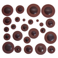 1 Set Professional Soprano Saxophone Pad Dark Brown Woodwind Leather Sax Pads