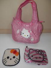 Hello kitty MINI Bag Shoulder Strap Purse Pink Handbags  Girls & 2 coin purse