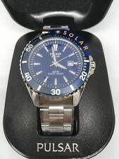Pulsar PX3033X1 Men's Diver Style Stainless Steel Solar Powered Watch 100m