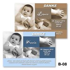 20 St. Danksagungskarten Baby Geburtsanzeige Geburtskarten mit Foto, Fotokarten