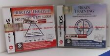 """BRAIN TRAINING"" + ""PRACTISE ENGLISH INGLESE PER TUTTI"" GIOCHI NINTENDO DS ITA"