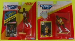 MAGIC JOHNSON STARTING LINE-UP SET 1991 & 1992, L.A. LAKERS,ON CARD,BASKEKETBALL
