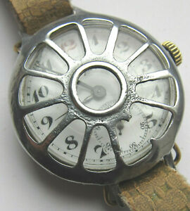 Vintage Swiss BOREL Fils and Co wristwatch I WW, protective overlay, enamel dial