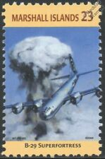 WWII ENOLA GAY USAF Boeing B-29 SUPERFORTRESS Aircraft Stamp (Marshall Islands
